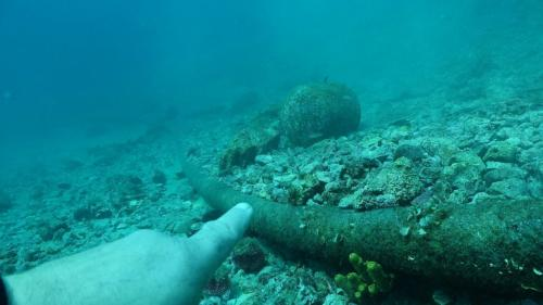 Underwater inspection of power cable